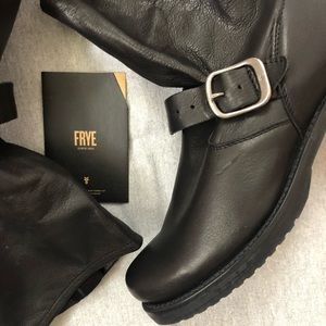 Frye Shoes - FRYE VERONICA SLOUCHY BOOTS BLACK